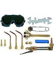 12PCS Oxygen & Acetylene Torch Kit Welding & Cutting Gas Welder Tool Set with Welding Goggles