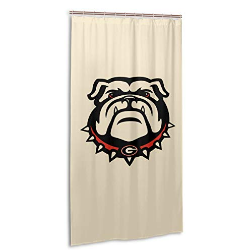 VIMMUCIR Georgia Bulldogs Shower Curtain Waterproof Bath Curtain for Bathroom 36 X 72 in