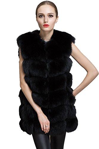 スロー鈍い命令QueenshinyレディースフェイクフォックスファーベストジャケットGieltウエストコートコートファッション