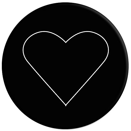 PopSockets: Collapsible Grip & Stand for Phones and Tablets - White Heart Black by PopSockets (Image #1)