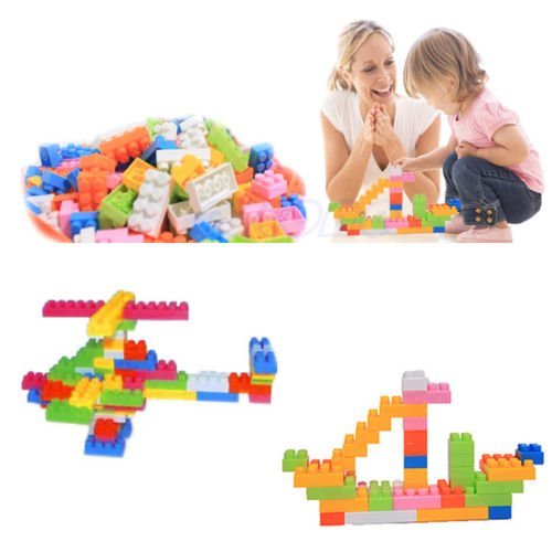 MAZIMARK--144Pcs Plastic Puzzle Educational Building Block Bricks Toy For Children Kid by MAZIMARK