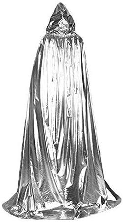 CITÉTOILE Disfraz de Halloween Mujer Hombre Unisex Encuadre de Cuerpo Entero Capucha Cabo Vampiro Mago Cabo