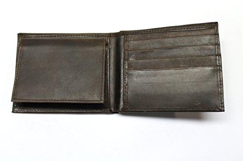 (Wallet for Men - Genuine Leather Bifold - RFID Blocking (Brown))