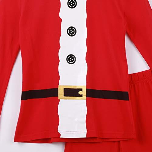 Pigiama Famiglia Figlio Abbigliamento Casa Cosplay Padre Babbo Donna Uomo Natale Abbigliamento Figli Baby da Nightwear Rosso Set Natalizio rwtqrR