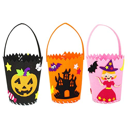 BESTOYARD 3PCS Cartoon Pattern Halloween Candy Bag Bags Hallowmas Gift for Kids Party Supplies Decor DIY ()