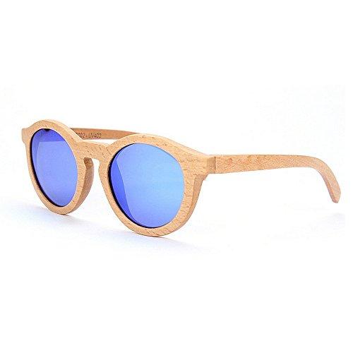 pour Nouvelles en Wayfarer de de lunettes soleil bambou à à rondes soleil à la pour la femmes la UV Lunettes Lunettes protection Lunettes les soleil polarisées main de conduite Lunettes main soleil de tqPtrawx