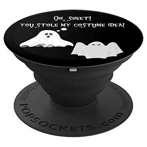 Funny Ghost Oh Sheet Pun Meme Punny Quote Halloween PopSockets Grip and Stand for Phones and Tablets]()