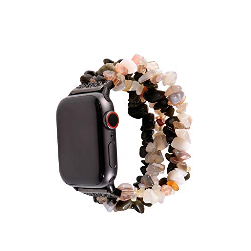 XBKPLO Wristband Bead String Band Compatible for Apple Watch Band Series 4 38mm 40mm Series 4/3/2/1 General Purpose Replacement Strap Cuff Women -