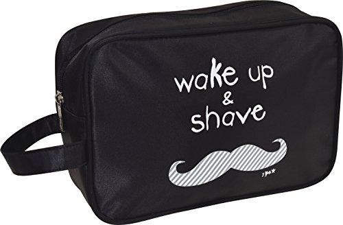 Incidence 61.583 - rechteckige Tasche WC (Wake Up And schwarzer Griff Reißverschluss Innentasche mit Reißverschluss Transport Shave MIYOuQA