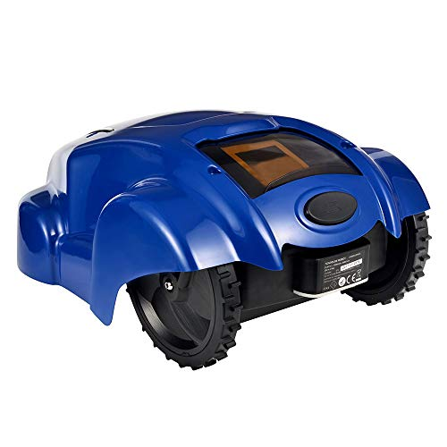 WARM WORM Mowing Robot, Intelligent Home Lawn Finishing Machine Automatic Charging Weeding Machine Lawn Mower, Garden Grass Cutter Tool with APP,Blue (Finishing Mower)