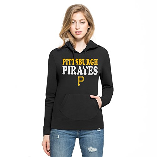 Pullover Black Mlb Sweatshirt - '47 MLB Pittsburgh Pirates Women's Headline Pullover Hoodie, Jet Black, X-Large