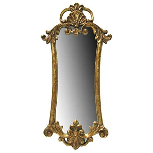 (LA&PH Wall Mirror Rustic Countryside Large Regal Vintage Gold Gilt Rococo Baroque Style)
