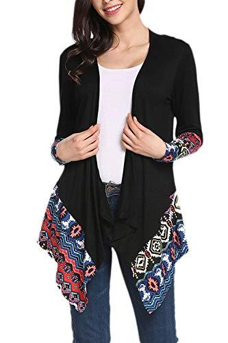 Coat en Femme Manteau Casual Automne Fashion Mod Saoye Tricot Impression AEp17qw0cU