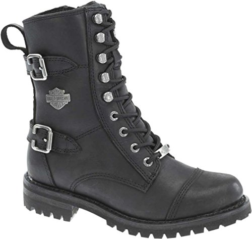Harley-Davidson Women's Balsa Work Boot, Black, 8 M US (Black Report Motorcycle Boots)