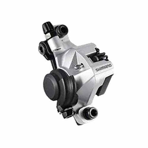 (Shimano BR-M375, Mechanical Disc Brake Caliper, Front or Rear, Silver)