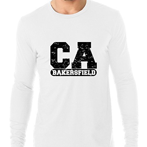 Bakersfield, California CA Classic City State Sign Men's Long Sleeve -