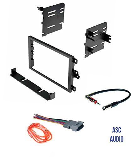 Chevy Avalanche Aftermarket - ASC Audio Car Stereo Dash Kit, Wire Harness, and Antenna Adapter to Add a Double Din Radio for some Buick Chevrolet GMC Hummer Isuzu Oldsmobile Pontiac