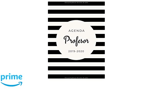 Agenda Profesor 2019-2020: Agenda Escolar para Maestros ...
