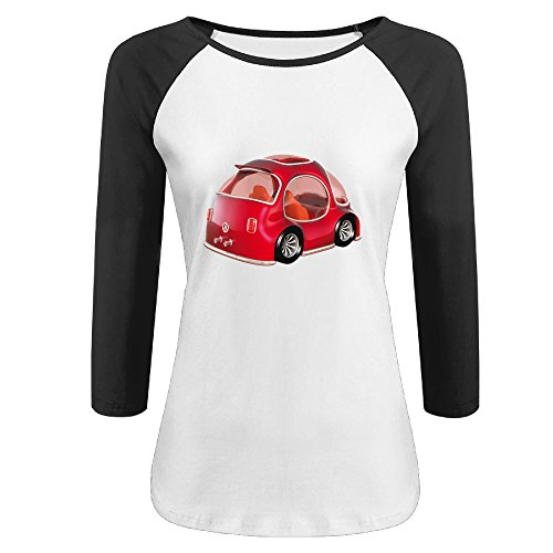 (Woman VW Beetle 3/4 Sleeve\r\n Midweight Jersey Half Sleeve T Shirts)
