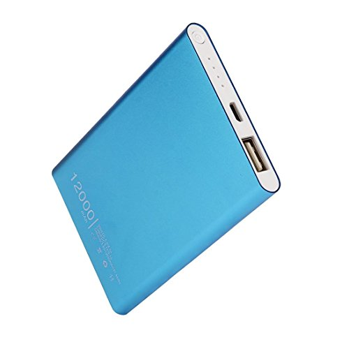 Hot Sale!Power Bank,Sunfei Ultrathin 12000mAh Portable USB External Battery Charger Power Bank for Cell Phone (Blue)