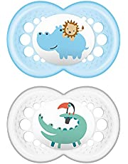 MAM Animal Orthodontic 2 Piece Pacifier, Boys, 16+ Months