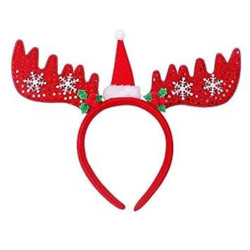 Christmas Headbands Hat Fancy Dress Hat Reindeer Antlers Santa Xmas Kids Gifts