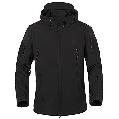 TACVASEN Military Waterproof Men's Softshell Jacket Fleece Lining Camouflage Outdoor Coat 1