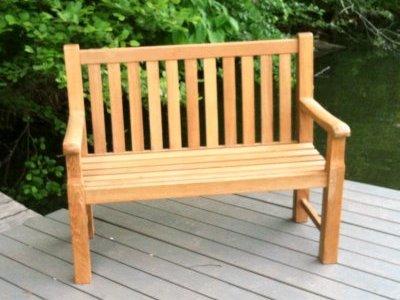Beau Atlanta Teak Furniture   Classic Teak Bench   4 Feet