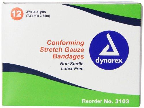 (Dynarex Non Sterile Stretch Gauze Bandage Roll,3