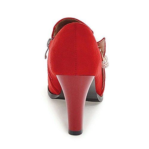 Women KemeKiss Heel Block Pumps Red Hqxq6da