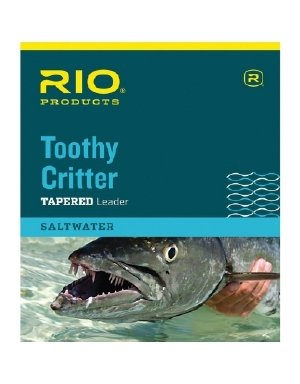 Toothy Critter Leader - RIO Products Leaders Toothy Critter II 7.5' 20Lb Class 15Lb Stainless Wire with Snap, Clear