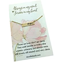 """Always Necklace,Remembrance Jewelry, Bereavement Jewelry, Sympathy Gift, Silver Bar Necklace with 16-18"""" chain."""