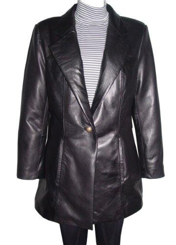 Nettailor 5020 Fine Fitted Clean Best Leather Blazer Coats Women by NETTAILOR (Image #7)