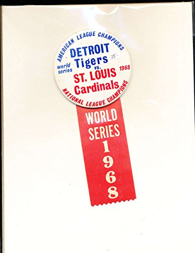 1968 World Series Detroit Tigers vs St. Louis Cardianls Large pin amp; ribbon by P&R publications