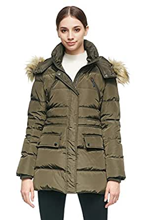 Orolay Women's Thickened Short Down Jacket Winter Coat Green XS