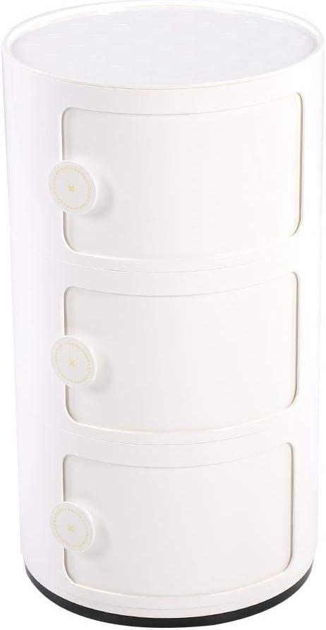Blau 63 x 32 cm lyrlody Container Componibili Kunststoff Nachttisch Aufbewahrungsschrank Rollcontainer Schubladenschrank Endtische mit Slippng T/ür f/ür Badezimmer-Schlafzimmer,3 Schichten