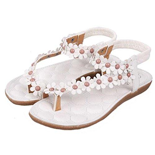 Estimado Tiempo Dulce Sandalias De Mujer Zapatos De Moda Blanco