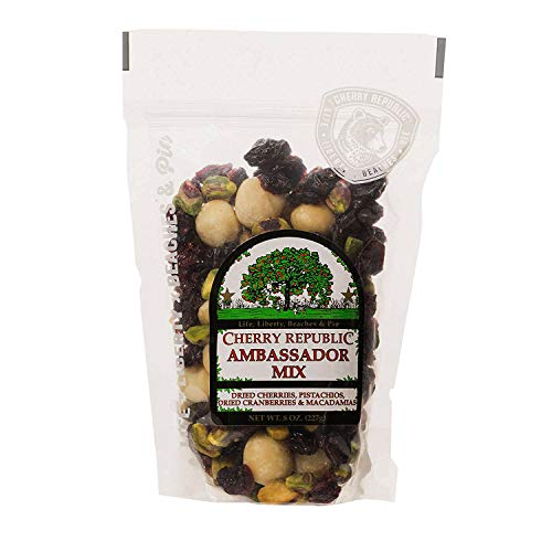 - Cherry Republic Cherry Ambassador Mix Cherry Nut Mix - Nutrition-rich Trail Mix Featuring Tart Dried Cherries, Dried Cranberries, Green Pistachios & Macadamia Nuts - All-purpose Snack Mix - 8 Ounces