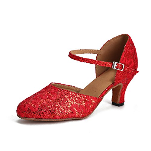 donna Ballroom Minitoo Heel Red 6cm ZRwqwUP