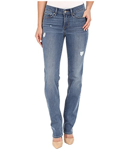 Levi's Women's 712 Slim Jeans, Simple Blue Destructed, 25 (US 0) R