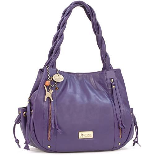 Caz Bolso Catwalk Estilo Cuero Shopper Collection Morado EHwwqv5pO