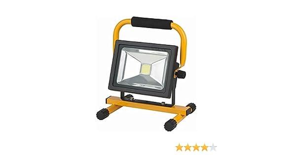 MCTECH 20 W bater/ía reflector LED linterna foco l/ámpara Kaitwei/ß amarillo