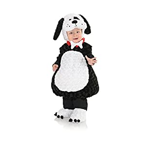 Underwraps Costumes Toddler Baby's Puppy Costume - Belly Babies Furry Puppy Costume, Black/White, Medium
