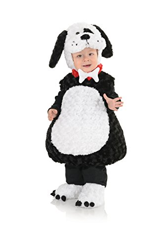 Underwraps Costumes Toddler Baby's Puppy Costume - Belly Babies Furry Puppy Costume, Black/White, X-Large