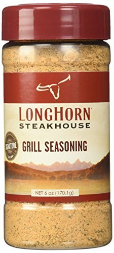 Longhorn Steakhouse Grill Seasoning 6oz Bottle (Pack of 3) by Longhorn
