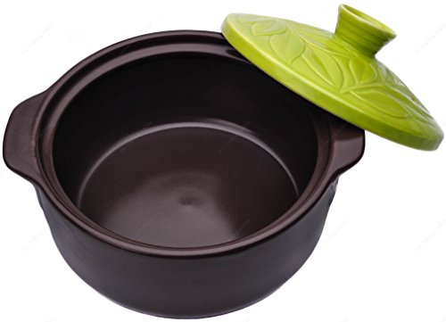 M.V. Trading 52129 Earthen Donabe Casserole Clay Pot With Lid, 8¼ Inches
