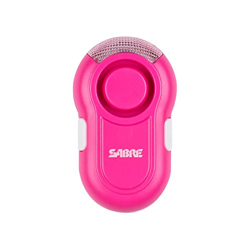 SABRE Personal Alarm with Clip-on & LED Light - Extremely Loud Lab Tested 120dB Alarm, Audible up to 600 Feet (185M) Away, Clips Easily to Running Gear - Stay Visible at Night with LED Light ()