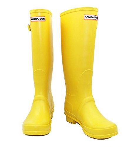 Botas lluvia de de lluvia impermeables 35 Botas largo 39 os mujeres Botas de eje de de tama lluvia lluvia Amarillo Botas Baiyouli para 8xqa57aZ