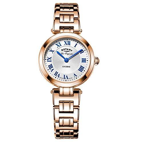 Rotary LB90189-41 Ladies Les Originales Lucerne Rose Gold Steel Bracelet Watch