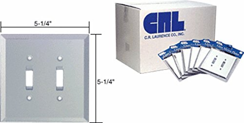 CRL Clear Mirror Glass Double Toggle Glass Mirror Plate in B